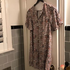 Floral print flounce dress